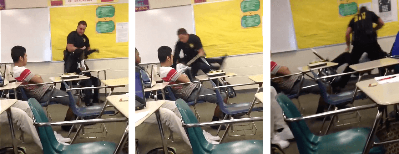 Disturbing Video Of Police Officer Picking Up And Throwing High School Student