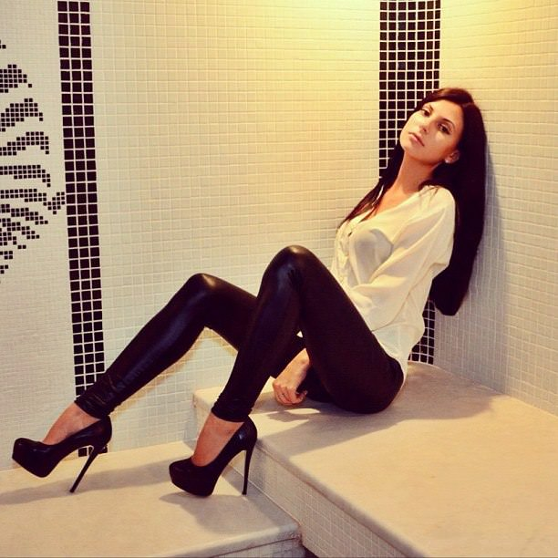 Leather Pants And Heels